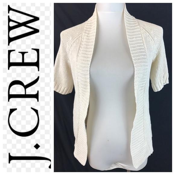 068529b4cb5ad J. Crew Cream Linen Silk Blend Cocoon Cardigan